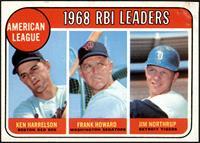 1968 AL RBI Leaders (Ken Harrelson, Frank Howard, Jim Northrup) [GOOD]