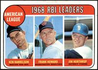 1968 AL RBI Leaders (Ken Harrelson, Frank Howard, Jim Northrup) [VGEX]