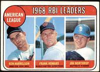 1968 AL RBI Leaders (Ken Harrelson, Frank Howard, Jim Northrup) [VG]
