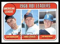 1968 AL RBI Leaders (Ken Harrelson, Frank Howard, Jim Northrup) [EX]