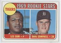 1969 Rookie Stars - Les Cain, Dave Campbell