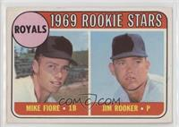1969 Rookie Stars - Mike Fiore, Jim Rooker [Poor to Fair]