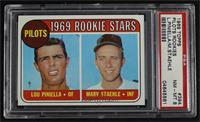 1969 Rookie Stars - Lou Piniella, Marv Staehle [PSA8NM‑MT]