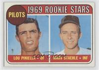 1969 Rookie Stars - Lou Piniella, Marv Staehle [EXtoNM]
