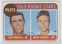 1969 Rookie Stars - Lou Piniella, Marv Staehle [GoodtoVG‑EX]