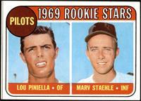 1969 Rookie Stars - Lou Piniella, Marv Staehle [VGEX]