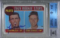 1969 Rookie Stars - Lou Piniella, Marv Staehle [JSACertifiedEncased…