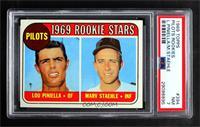 1969 Rookie Stars - Lou Piniella, Marv Staehle [PSA7NM]