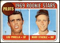 1969 Rookie Stars - Lou Piniella, Marv Staehle [FAIR]