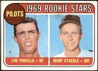 1969 Rookie Stars - Lou Piniella, Marv Staehle [VG]
