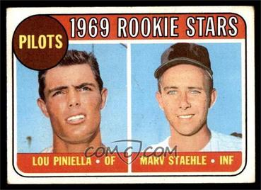 1969 Topps - [Base] #394 - Lou Piniella, Marv Staehle [GOOD] - Courtesy of COMC.com