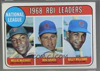 1968 NL RBI Leaders (Willie McCovey, Ron Santo, Billy Williams) [Poor]