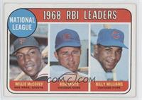 1968 NL RBI Leaders (Willie McCovey, Ron Santo, Billy Williams)