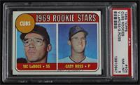 1969 Rookie Stars - Vic Larose, Gary Ross [PSA8NM‑MT]
