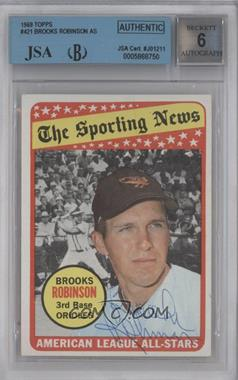 1969 Topps - [Base] #421 - Brooks Robinson [BGS/JSA Certified Auto]