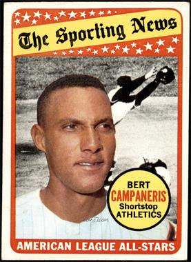 1969 Topps - [Base] #423 - The Sporting News All Star Selection - Bert Campaneris [VG EX]