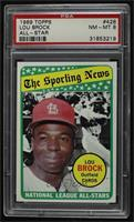 The Sporting News All Star Selection - Lou Brock [PSA8NM‑MT]
