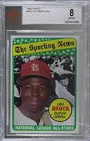The Sporting News All Star Selection - Lou Brock [BVG 8 NM‑MT]