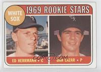 1969 Rookie Stars - Ed Herrmann, Dan Lazar
