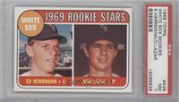 White Sox Rookie Stars (Ed Herrmann, Dan Lazar) [PSA7]