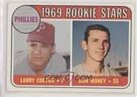 1969 Rookie Stars - Larry Colton, Don Money (Names in Yellow)