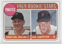 1969 Rookie Stars - Bruce Dal Canton, Bob Robertson (Yellow Letter)
