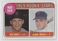 1969 Rookie Stars - Ken Brett, Gerry Moses (Names in Yellow)