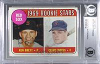 1969 Rookie Stars - Ken Brett, Gerry Moses (Names in Yellow) [BAS Certifie…