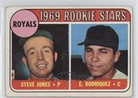 1969 Rookie Stars - Steve Jones, Ellie Rodriguez (Rodriquez) [Poor]
