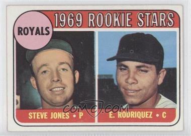 1969 Topps - [Base] #49.1 - Steve Jones, Ellie Rodriguez (Rodriquez error)