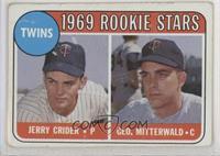 1969 Rookie Stars - Jerry Crider, George Mitterwald (player names in white) [Po…