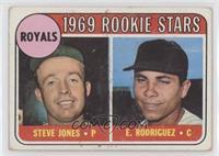 1969 Rookie Stars - Steve Jones, Ellie Rodriguez (Rodriguez) [Poorto…