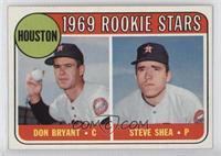1969 Rookie Stars - Don Bryant, Steve Shea