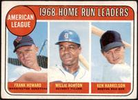 1968 AL Home Run Leaders (Frank Howard, Willie Horton, Ken Harrelson) [FAIR]