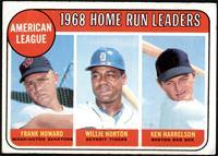 1968 AL Home Run Leaders (Frank Howard, Willie Horton, Ken Harrelson) [VG]