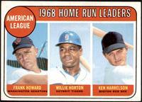 1968 AL Home Run Leaders (Frank Howard, Willie Horton, Ken Harrelson) [VG…