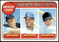 1968 AL Home Run Leaders (Frank Howard, Willie Horton, Ken Harrelson) [VG+]