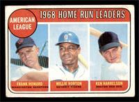 1968 AL Home Run Leaders (Frank Howard, Willie Horton, Ken Harrelson) [GOOD]