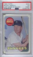 Mickey Mantle (Last Name in Yellow) [PSA 3 VG (MK)]