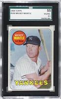 Mickey Mantle (Last Name in Yellow) [SGC55VG/EX+4.5]