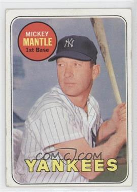 1969 Topps - [Base] #500.1 - Mickey Mantle (Last Name in Yellow) [Poor to Fair]