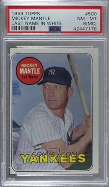 1969 Topps - [Base] #500.2 - Mickey Mantle (Last Name in White) [PSA8NM‑MT(MC)]