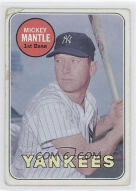 1969 Topps - [Base] #500.2 - Mickey Mantle (Last Name in White) [Poor]
