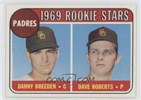 1969 Rookie Stars - Danny Breeden, Dave Roberts
