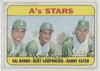 A's Stars (Sal Bando, Bert Campaneris, Danny Cater) [Poor]