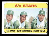 A's Stars (Sal Bando, Bert Campaneris, Danny Cater) [GOOD]