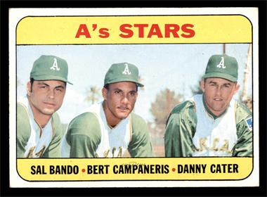 1969 Topps - [Base] #556 - A's Stars (Sal Bando, Bert Campaneris, Danny Cater) [EX]