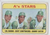 High # - A's Stars (Sal Bando, Bert Campaneris, Danny Cater) [Poor]