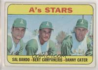High # - A's Stars (Sal Bando, Bert Campaneris, Danny Cater) [Goodto…