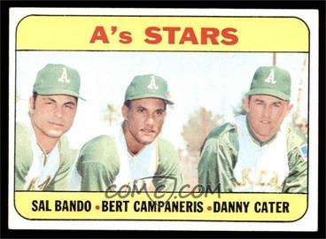 1969 Topps - [Base] #556 - High # - A's Stars (Sal Bando, Bert Campaneris, Danny Cater) [EX]